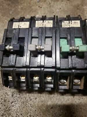 Zinsco Breakers Combination 50 40 30 20 And One 20 Thin One 15 Thin