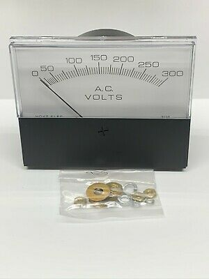 Hoyt 681 4-12 Rectangular Industrial Panel Meter 0-300 Volts Ac Voltmeter