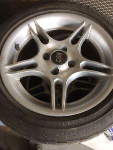 4 mags avec pneus