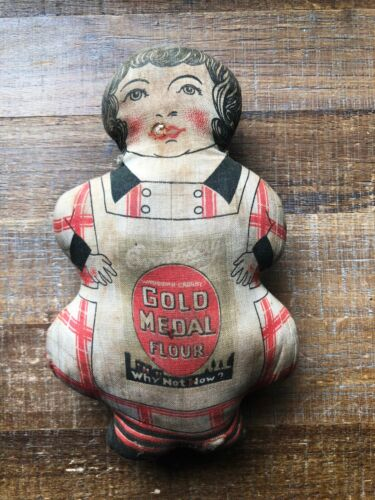 Vintage GOLD MEDAL FLOUR Stuffed Doll Advertising, Made in Germany