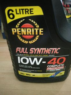 Penrite 10w-40 6 litres full syn oil