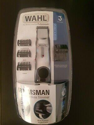 Wahl Groomsman Cable / Inalámbrico Recargable Bigote Barba Cortapelos - RM24
