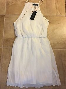 White summer dress from Dynamite