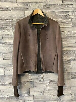 Isaac Sellam Experience Womens Leather Jacket Size 42