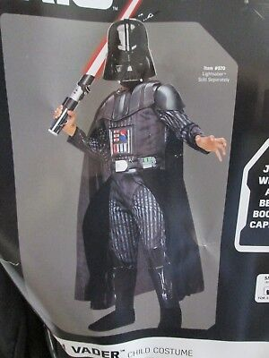 New $40 Rubies Star Wars Child's Halloween Costume/Cosplay-Darth Vader-Small-4-6