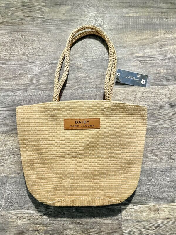 MARC JACOBS Daisy Straw Wicker Tote Beach Travel Bag