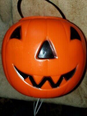 Vintage Empire Orange Pumpkin Jack-o-Lantern Trick-or-Treat Bucket
