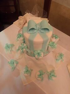 Tiffany look faux foam fake cake for party wedding hire or buy Stirling Stirling Area Preview