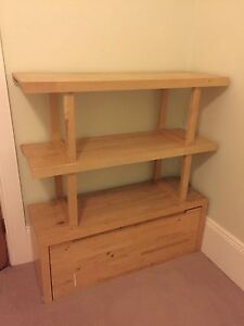 IKEA Norrebo storage bench and shelving unit Stanmore Marrickville Area Preview