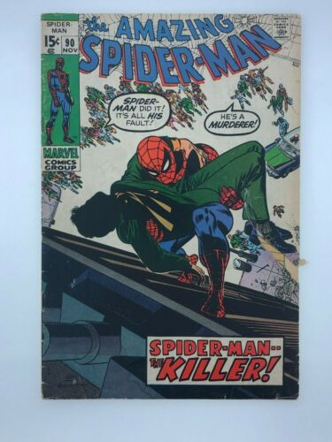 The Amazing Spider-Man Nov #90 Marvel Comic Book Death of Captain Stacy NR