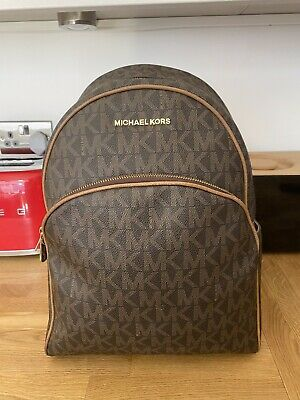 Beautiful MICHARL KORS Abbey Large Signature Print Backpack