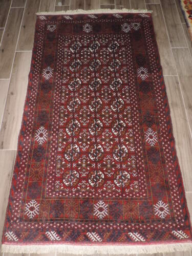 4x7ft. Handmade Pakistani Bokharra Wool Rug