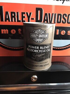 1980's Harley Davidson Power Blend Motorcycle Oil BANK, Collectible Oil Can Bank