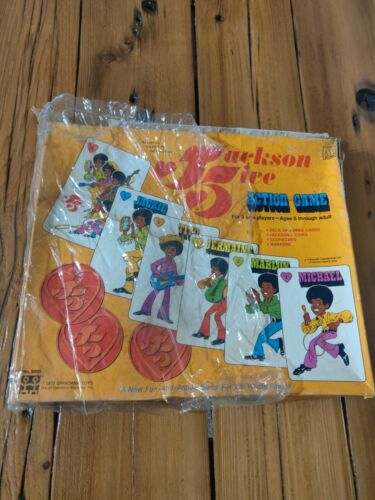 Michael Jackson 5 Five Board Action Game 1972 Complete w/ Box