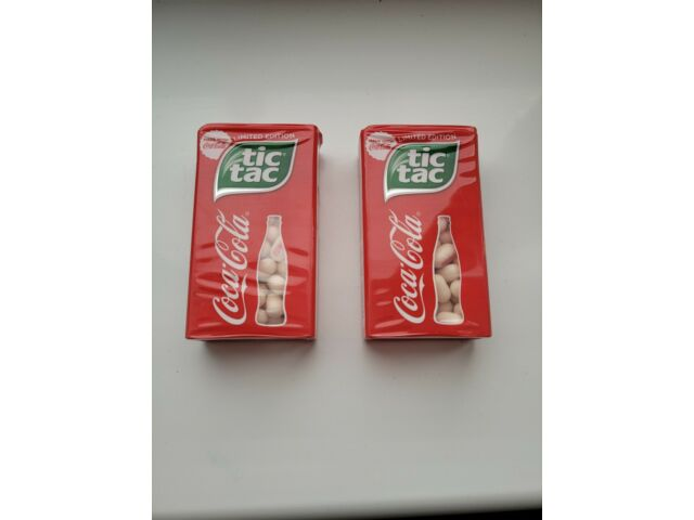 Tic Tac Limited Edition Coca Cola Flavour 49g made with Cola Cola sealed x2