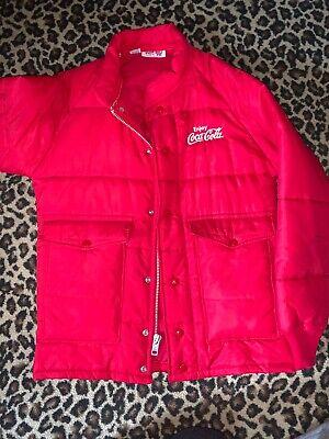 Coca Cola Vintage Coke Jacket Red Puffy RARE ORIGINAL SMALL S comfortable Soft!