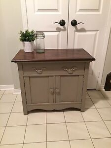 Solid wood refinished antique cabinet