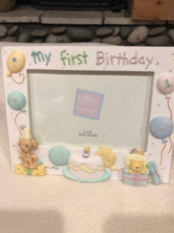 Baby Girls 1st Birthday Frame