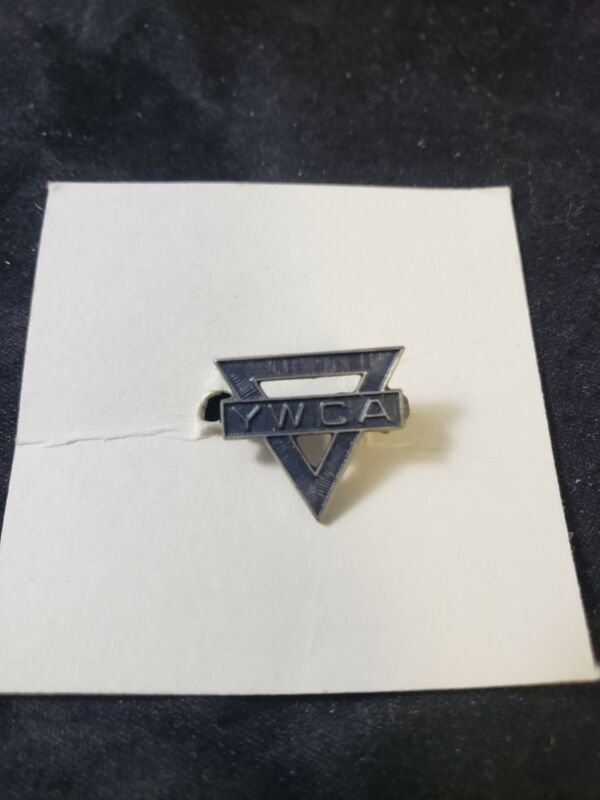 Vintage Early YMCA Pin Triangle sterling Rare (ss)
