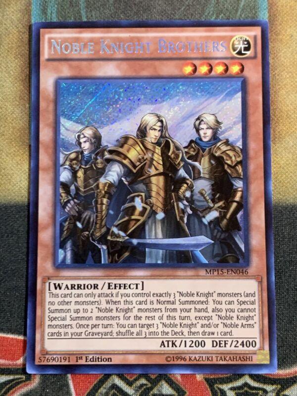 MP15-EN047 Noble Knight Eachtar Super Rare 1st edition Mint YuGiOh Card