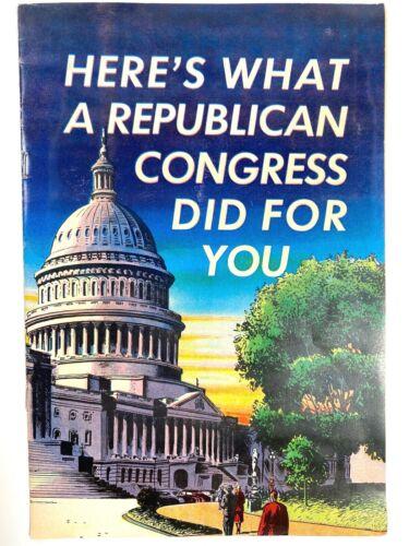 1952 REPUBLICAN 80TH CONGRESS vintage comic book U.S. POLITICS Anti-Communism