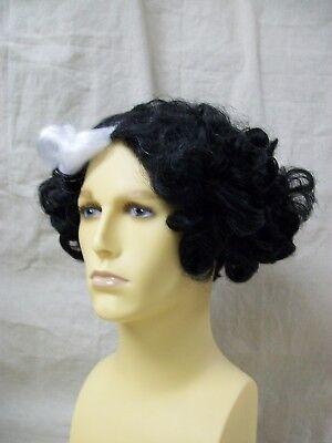 Black White Barber Wig Sweeney Todd Demon Fleet Victorian Vampire Cruella De Vil - Sweeney Todd Wig