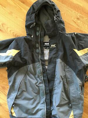Vintage Helly Hansen Ski Jacket Gray Yellow  90s Mens Size Medium
