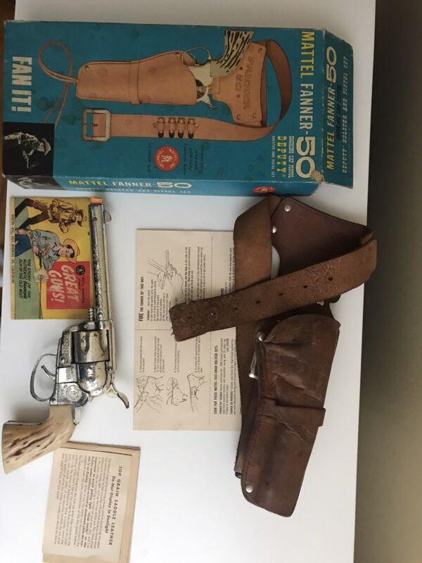 MATTEL Fanner 50 Deputy Holster & Pistol Set-Vintage