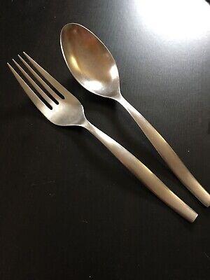 Loft Set - Gourmet Settings Stainless LOFT Serving Set Spoon & Fork 10 1/2