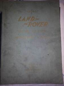 LAND ROVER 1954 TO 1957 Workshop Manual 2nd Edition Mowbray Launceston Area Preview