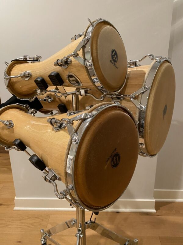 LP Bata 3 Drum Set with Rolling Stand