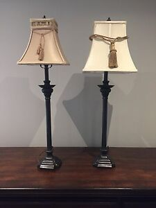 Two Nightstand End Table Lamps
