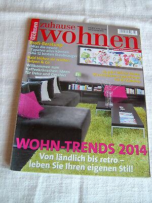 Zeitschrift zuhause wohnen Heft 2 Februar 2014 Wohn Trends