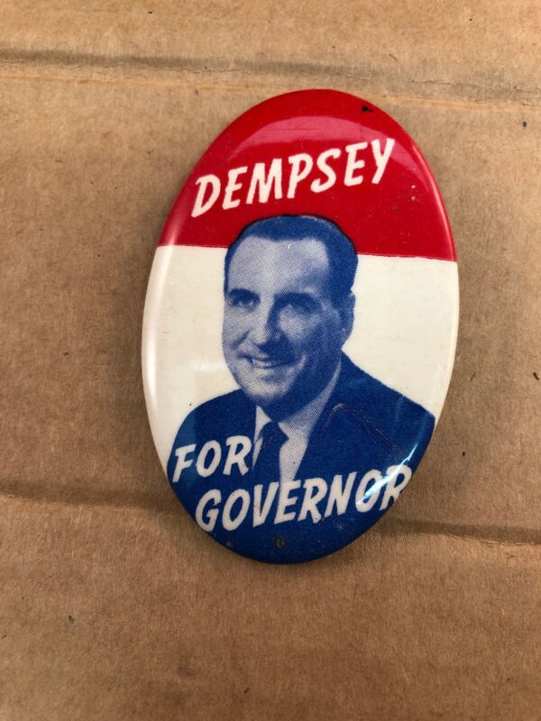 Vintage John Dempsey for Connecticut Governor Political Campaign Pinback Button