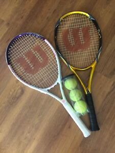His and Hers Wilson Tennis Racquets - Excellent Condition