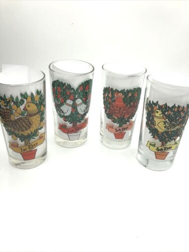 TWELVE DAYS OF CHRISTMAS Glasses 11oz straight sided REPLACEMENTS Variations