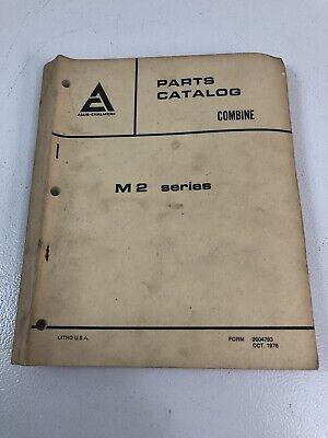 Allis Chalmers Ac Gleaner M2 Series Combine Parts Catalog