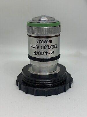 Lomo Microscope Objective Microfluar Mfluar 100 1.30 Rms Thread 160 Tube