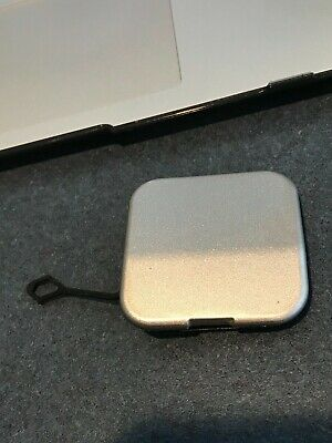 04-09 OEM Cadillac SRX SUV rear bumper tow cap cover plug eye square silver