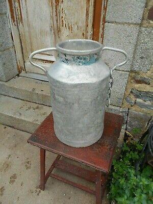 Vintage French aluminium milk churn