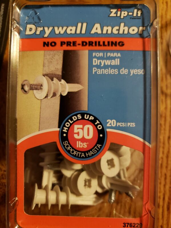 Plastic Zip It Drywall Anchor 20 count - 50# Drywall Anchor Z 76