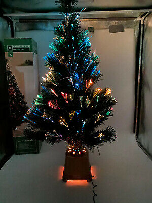 32 Inch Green Fiber Green Fiber Optic Color Changing Christmas Tree + BONUS STAR
