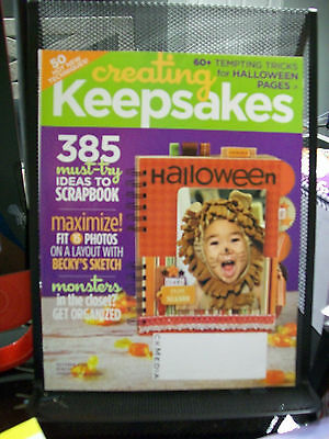CREATING KEEPSAKES MAGAZINE SCRAPBOOKING OCTOBER 2008 385 IDEAS LAYOUT HALLOWEEN