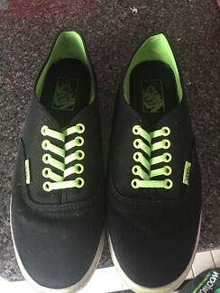 Vans Skate Shoes Green/Black