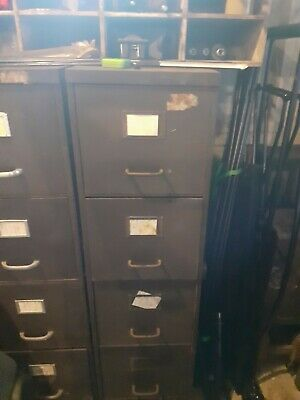 Vintage 4 drawer metal office filing cabinet - restoration project