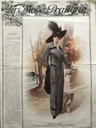 MODE PRATIQUE October 19,1912 +sewing patterns - Evening dress, costume