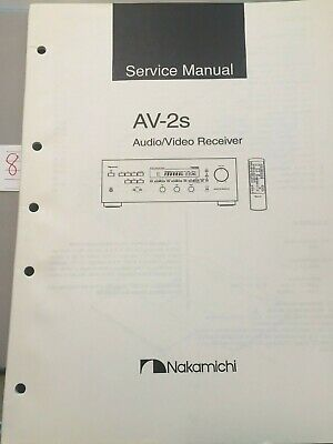 Nakamichi Service Manual AV-2s Audio / Video Receiver -