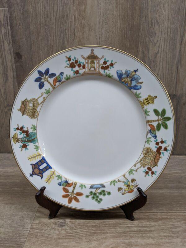 "Vintage Fitz and Floyd ""Promenade"" Gold Trim Dinner Plate, Japan (Gallery #31)"