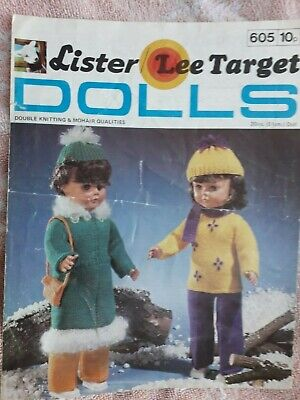"Vintage Doll Clothes Dolls Outfits  knitting pattern fits 20"" dolls"
