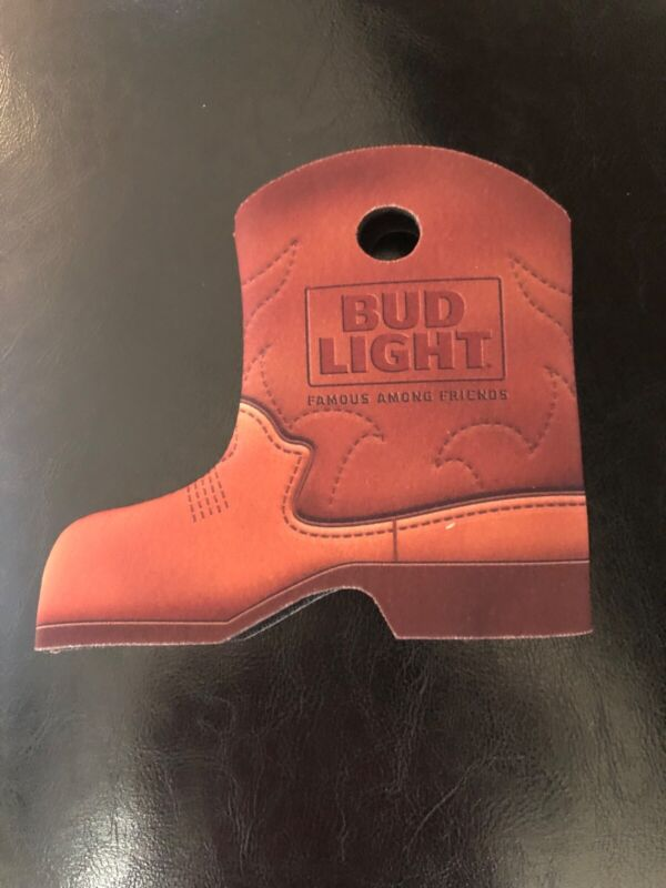 Cowboy Boot beer can coozie Bud Light